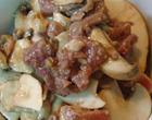 烧三鲜薇菜豆腐盒