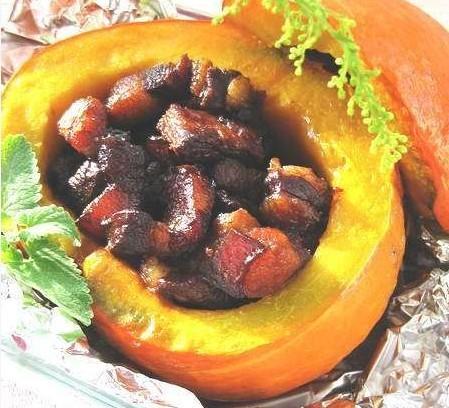紅燒肉蒸南瓜